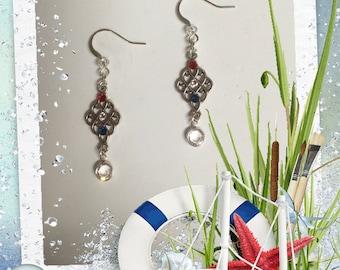 Red, White & Blue Chandelier Earring