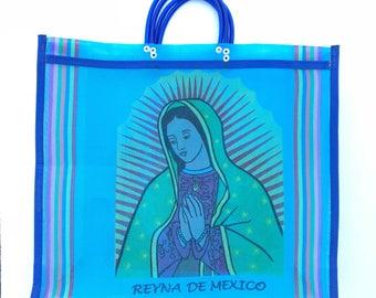 La virgen de Guadalupe market bag, mexican bag, mercado bag, mexican market bag, mesh tote bag, mexican mesh bags, beach bag, market bag