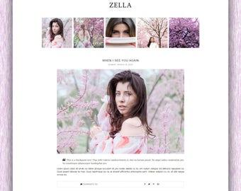 SALE! Zella | Responsive Minimalist Premade Blogger Template