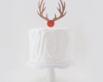 Rudolf the Red Nosed Reindeer Cake Topper, Christmas Cake Topper, Rudolph Cake Topper