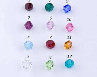 8mm Bicone Faceted (#5301) Swarovski Crystal Beads, Birthstone, Birthday Gift, Mothers Day, Birth Month,Multicolor,Priced per 20 pieces,CB04