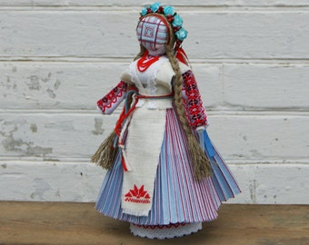 Motanka Handmade Ukrainian Ethnic Folk Traditional blue Doll Unique decorative gift with meaning for her, Gift for Family, OOAK