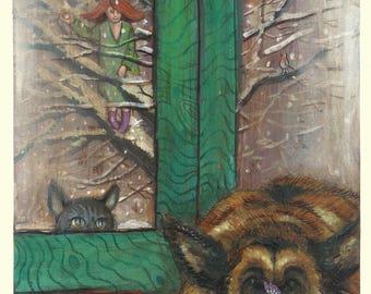Afra - print of original illustration