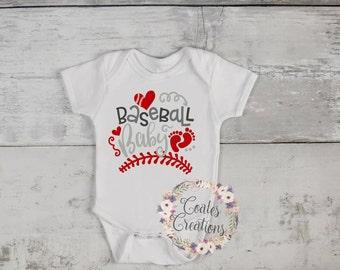 Baseball Baby onesie//gerber onesie//baseball onesie//white cotton