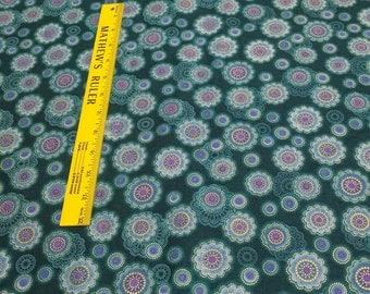 Fortissimo Metallic-Teal-Cotton Fabric from Robert Kaufman Fabrics