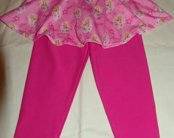 12-18 months pink skirted leggings