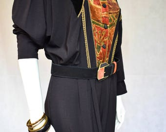 Vintage 1980s Black Jumpsuit