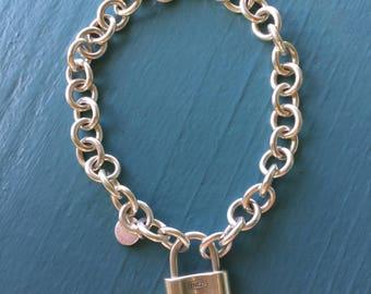 Authentic Tiffany Sterling Silver Lock Bracelet