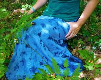 Indigo Dappled Skirt