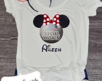 Star Wars Death Star Minnie Shirt, Disney Epcot, Hollywood Studios