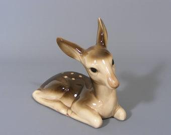 Deer Figure, Vintage Deer Figure, Porcelain Deer Figure, Fawn Figure, Deer Figurine, Ceramic Deer Figure, Bambi Figure, Free UK Postage