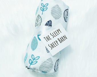Botanical Swaddle - Botanical Baby Blanket - Woodland Swaddle - Woodland Baby Blanket - Muslin Swaddle - Muslin Baby Blanket