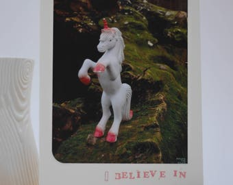 I believe in YOU | Handmade greeting card made from reclaimed materials