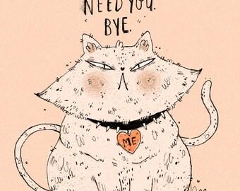 Mad Cat Print