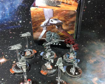 Custom Painted Star Wars Armada Imperial Squadrons 2