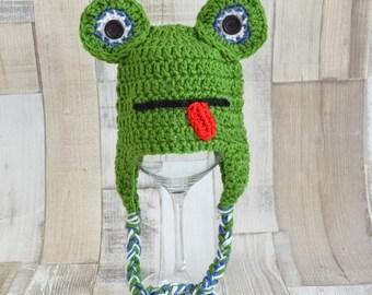 Frog hat, frog hat, crochet, crochet