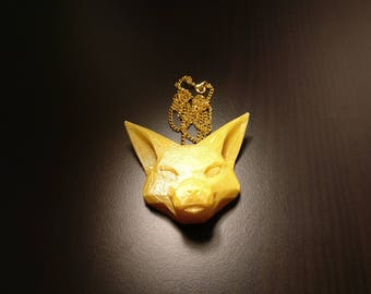 Foxy 3D printed necklace