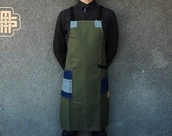 Barbar-On Apron ''Classic'' Barber Apron Canvas Apron Custom Apron hair Stylist Apron Barista Apron bartender Apron Chef Apron Man Gift