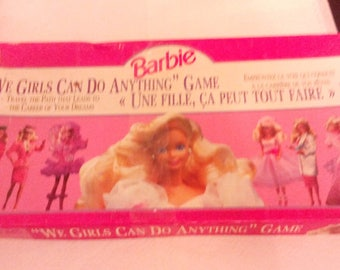 """Vintage 1991 """"We Girls Can Do Anything"""" Barbie Board Game Complete"""
