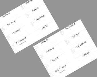 Printable Planner Inserts 8.5 X 5.5 (Weekly)