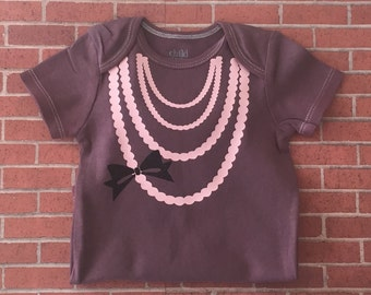 Necklace with Bow Bodysuit