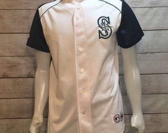 Vintage Unique MLB Baseball Seattle Mariners Jersey by Genuine Merchandise by Majestic