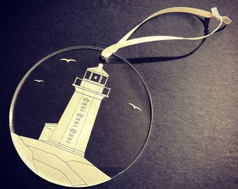 Peggy's Cove Lighthouse Ornament Set