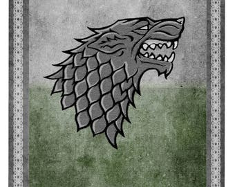 Stark lifesize banner, Game of Thrones