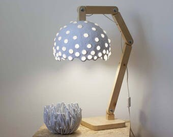 Paper mache lamp etsy for How to make paper mache lamps