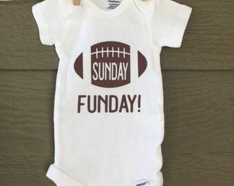 Sunday Funday, football onesie, Custom Onesie, baby onesie, onesie, baby shower gift, newborn gift, Football,