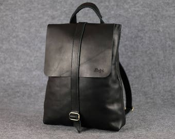 Women's universal backpack-bag / Laptop backpack, Leather backpack, Womens leather rucksack, Women leather backpack, City-Style leather bag