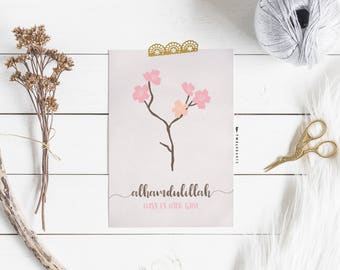 Alhamdulillah that there is you postcard, Islamicprint, Muslim print