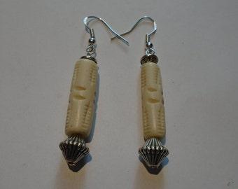 Silver & Bone Earrings