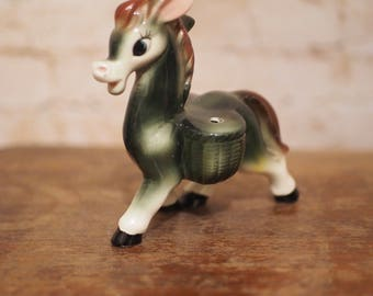 1960s Kitsch Ceramic Mule Toothpick Holder
