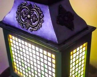 Bright lantern lamp on 4 sides