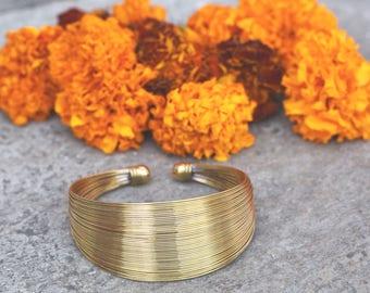 beautiful brass bracelet bangle cuff multi strings