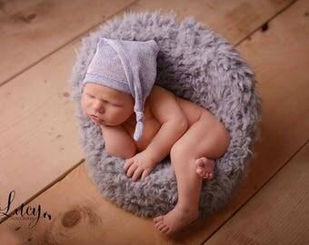 Newborn Hat, Baby Boy Hat, Newborn Photo Props, Baby Hat, Sleepy Hat, Knot Hat, BLUE, Newborn Props, Baby Boy Prop, Photography Prop