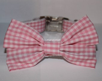 Pink Gingham - Belle Bow