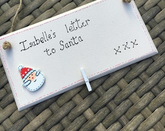 Personalised letter to Santa plaque