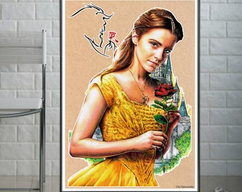 Belle- beauty and the Beast  - Fine Art Print - A4/A3