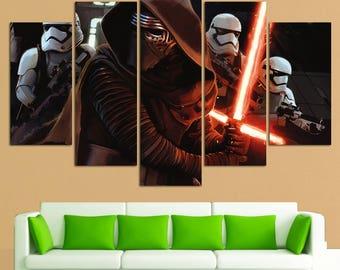 Kylo Ren Star Wars Wall Art canvas Kylo Ren print Kylo Ren wall art Kylo Ren wall decor Star Wars Canvas Print Star Wars Wall Decor Kylo Ren