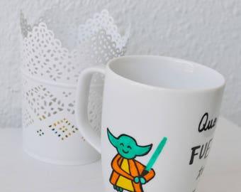 Star Wars Mug | Star Wars Gift | Breakfast Mug | Coffee Mug | Hand Painted Mug | Unique Gift | Freak Gift | Freak Mug | Birthday Gift