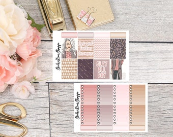 Slay All Day Weekly Kit Planner Stickers - For Erin Condren Life Planner