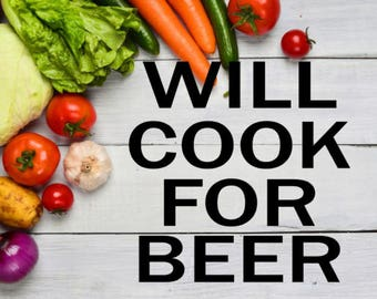 Will Cook For Beer Instant Pot Decal / Pressure Cooker Decal
