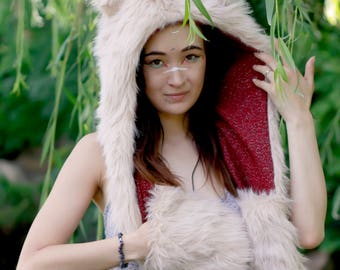 Lion Cub/Child's Animal Ear Hood/Spirithood