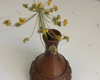 Ceramic Bud Vase, Vintage Bud Vase, Studio Pottery Bud Vase
