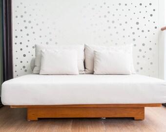 100 Silver Polka Dot Wall stickers