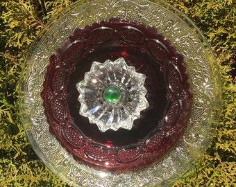 Repurposed Glass Garden Flower Decor