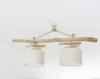 Driftwood - linen 28cm - suspension - Led - light chandelier