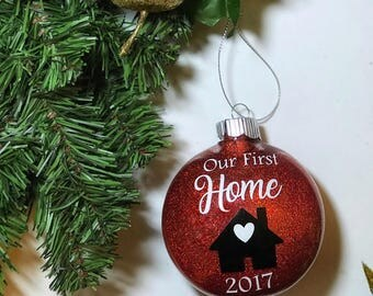 Our First Home Ornament   1st Home   Newly Homeowners Gift   Best Seller   Glitter Ornament   1st House together